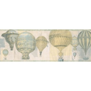 7 in x 15 ft Prepasted Wallpaper Borders - Balloon Wall Paper Border NB76954