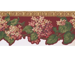 Prepasted Wallpaper Borders - Floral Wall Paper Border NG8005B
