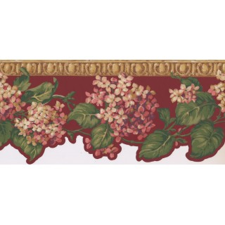 9 in x 15 ft Prepasted Wallpaper Borders - Floral Wall Paper Border NG8005B