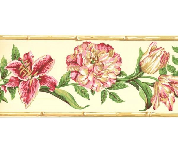 New  Arrivals Wall Borders: Floral Wallpaper Border NG8025B