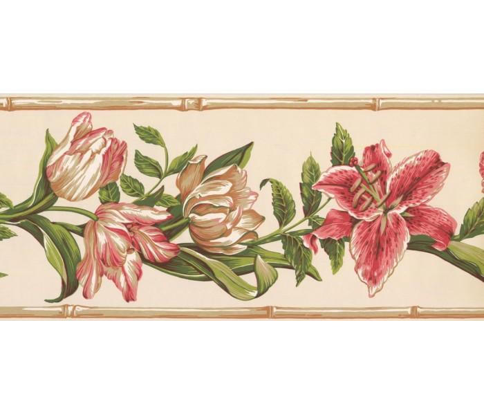 New  Arrivals Wall Borders: Floral Wallpaper Border NG8026B