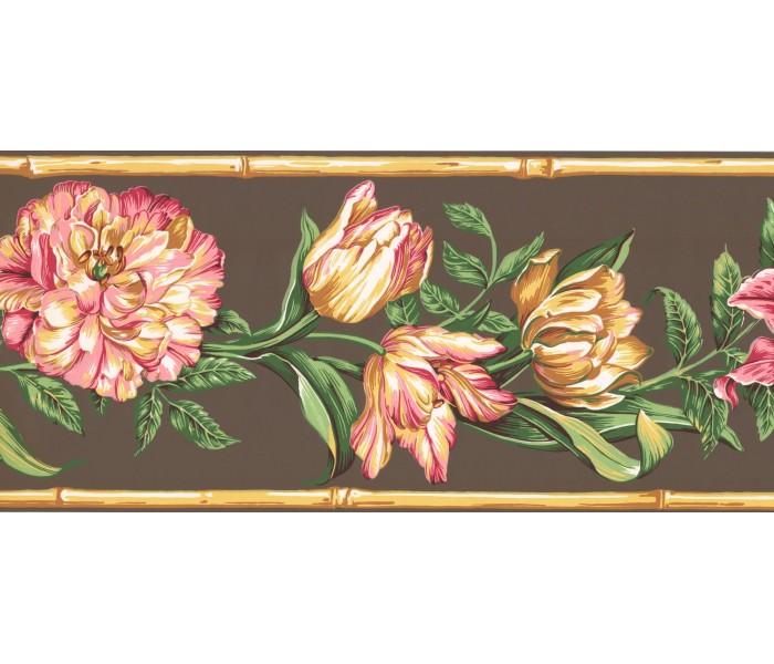 New  Arrivals Wall Borders: Floral Wallpaper Border NG8027B