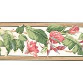New  Arrivals Wall Borders: Floral Wallpaper Border NG8057