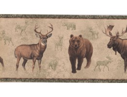 Prepasted Wallpaper Borders - Jungle Animals Wall Paper Border NM6636B