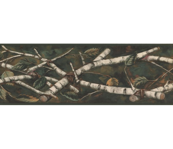 New  Arrivals Wall Borders: Leaves Wallpaper Border NM6669B