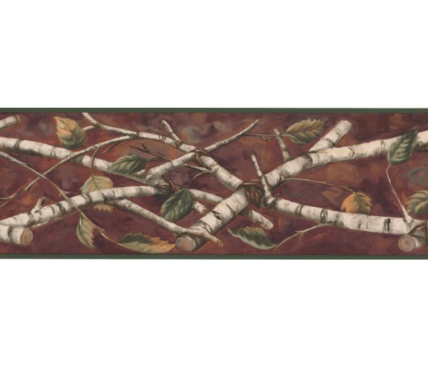 New  Arrivals Wall Borders: Leaves Wallpaper Border NM6670B
