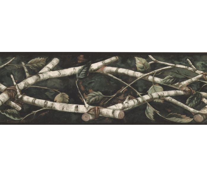 New  Arrivals Wall Borders: Leaves Wallpaper Border NM6671B