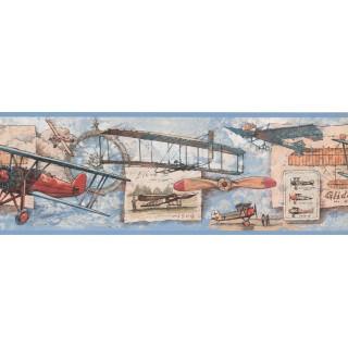 7 in x 15 ft Prepasted Wallpaper Borders - Nautical Wall Paper Border NM6712B
