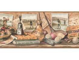 Prepasted Wallpaper Borders - Golf Wall Paper Border NM6788B