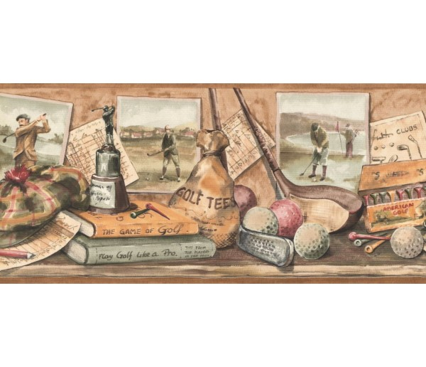 New  Arrivals Wall Borders: Golf Wallpaper Border NM6788B