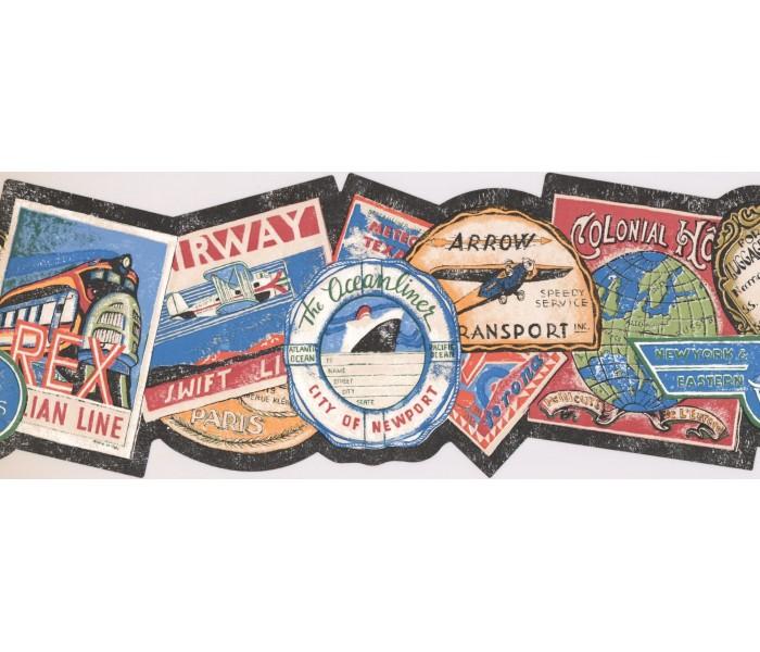 New  Arrivals Wall Borders: Airway Wallpaper Border NM6795B