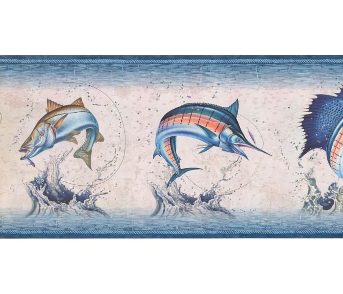 New  Arrivals Wall Borders: Fishes Wallpaper Border NM6813B