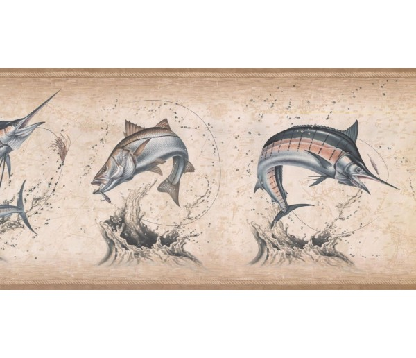 New  Arrivals Wall Borders: Fish Wallpaper Border NM6814B