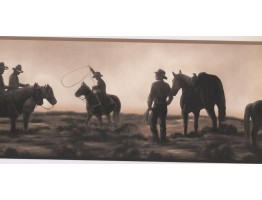 9.1 in x 15 ft Prepasted Wallpaper Borders - Horses Wall Paper Border NM6837B