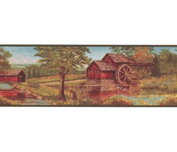 New  Arrivals Wall Borders: Country Wallpaper Border NM6841B