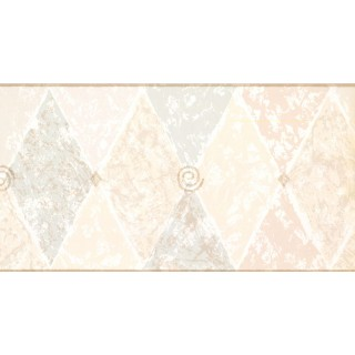 10 1/4 in x 15 ft Prepasted Wallpaper Borders - Diamond Wall Paper Border NP1886B