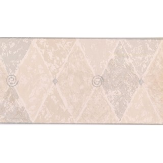 10 1/4 in x 15 ft Prepasted Wallpaper Borders - Diamond Wall Paper Border NP1889B