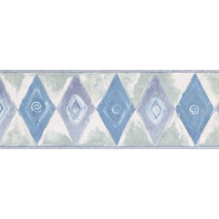 7 in x 15 ft Prepasted Wallpaper Borders - Diamond Wall Paper Border NS71809W