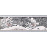 New  Arrivals Wall Borders: Floral Wallpaper Border NS76902