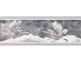 Prepasted Wallpaper Borders - Floral Wall Paper Border NS76902