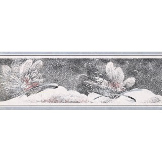 7 in x 15 ft Prepasted Wallpaper Borders - Floral Wall Paper Border NS76902