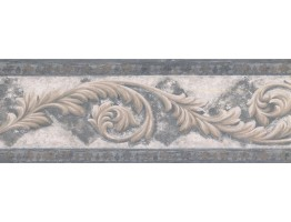 Prepasted Wallpaper Borders - Vintage Wall Paper Border NS76924