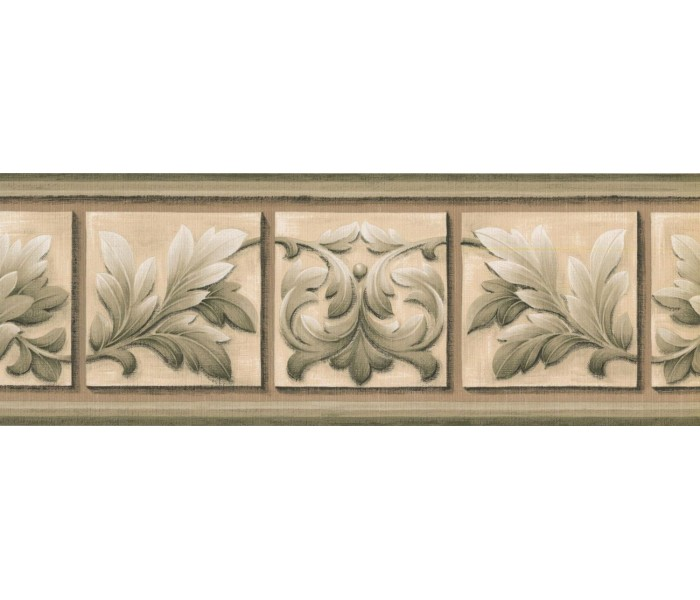 New  Arrivals Wall Borders: Leaves Wallpaper Border NS76927