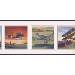 9 in x 15 ft Prepasted Wallpaper Borders - Flight Wall Paper Border NT101240