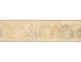Prepasted Wallpaper Borders - Leaves Wall Paper Border NTX79286