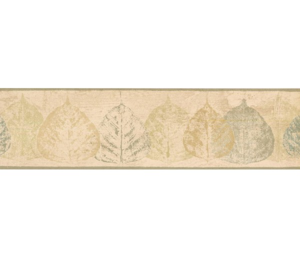 New  Arrivals Wall Borders: Leaves Wallpaper Border NTX79286