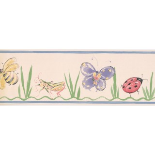 7 in x 15 ft Prepasted Wallpaper Borders - Kids Wall Paper Border OR131B