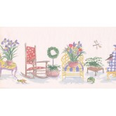 New  Arrivals Wall Borders: Garden Wallpaper Border OR164B