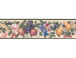 Fruits and Flower Wallpaper Border OS0716B