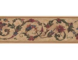 Floral Wallpaper Border OS0804B