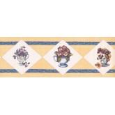New  Arrivals Wall Borders: Floral Wallpaper Border OS1803B
