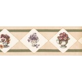 New  Arrivals Wall Borders: Floral Wallpaper Border OS1903B