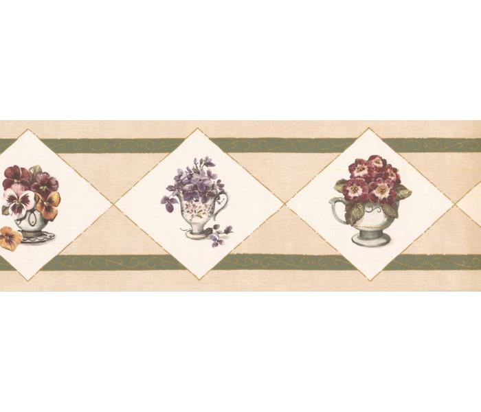 New  Arrivals Wall Borders: Floral Wallpaper Border OS1903B
