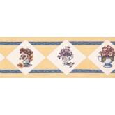 New  Arrivals Wall Borders: Flower Vase Wallpaper Border OS2103B
