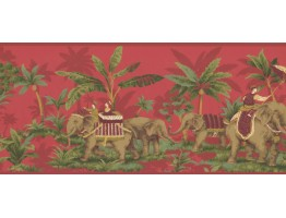 Prepasted Wallpaper Borders - Elephant Wall Paper Border OT4000B