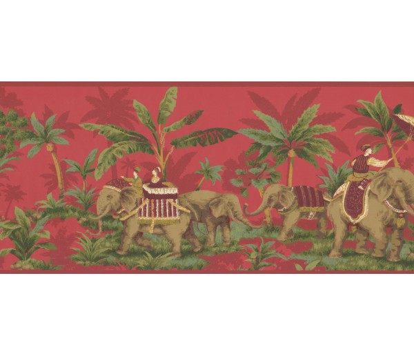 New  Arrivals Wall Borders: Elephant Wallpaper Border OT4000B
