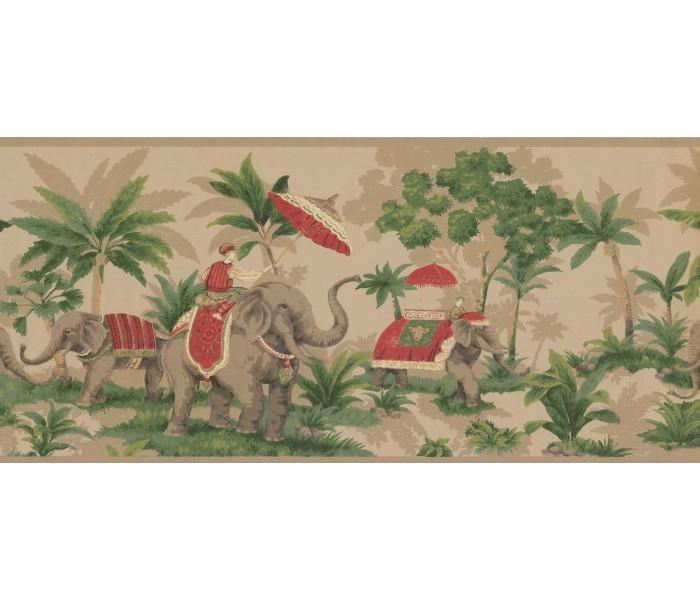 New  Arrivals Wall Borders: Elephant Wallpaper Border OT4003B