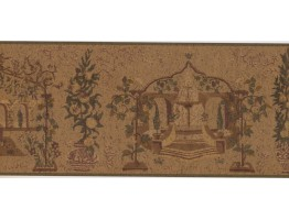 Prepasted Wallpaper Borders - Garden Wall Paper Border OT4070B