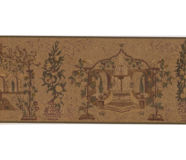 New  Arrivals Wall Borders: Garden Wallpaper Border OT4070B