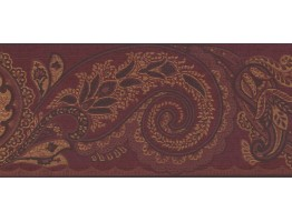 Prepasted Wallpaper Borders - Leaves Wall Paper Border OT4130B