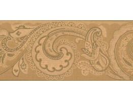 Prepasted Wallpaper Borders - Leaves Wall Paper Border OT4132B