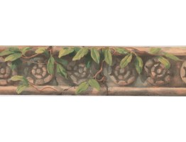 Prepasted Wallpaper Borders - Leaves Wall Paper Border OT4181B