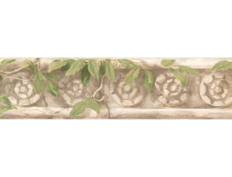 5 1/4 in x 15 ft Prepasted Wallpaper Borders - Leaves Wall Paper Border OT4182B