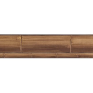 5 in x 15 ft Prepasted Wallpaper Borders - Faux Wood Wall Paper Border PC169B