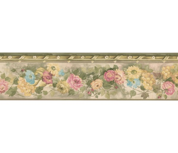 New  Arrivals Wall Borders: Floral Wallpaper Border PP76550