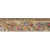 New  Arrivals Wall Borders: Floral Wallpaper Border PP76552